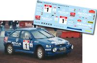 Decal 1:43 Armin Schwarz - FORD ESCORT WRC - Rally Boucles de Spa 1998