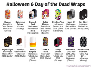 Jamberry Holiday Nail Wraps - Halloween & Day of the Dead Half Sheets