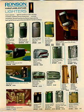1969 ADVERTISEMENT Lighter Ronson Pipe Kaywoodie Varaflame Ladylite Adonis