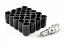 20x BLACK TUNER STEEL WHEEL NUTS M12x1.25 fits SUBARU IMPREZA CLASSIC NEWAGE