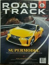 Road & Track March April 2017 Supermodel Lexus LC 500 Coupe FREE SHIPPING sb