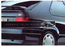 Renault 19 16 Valve 16v 1991 UK Market Foldout Sales Brochure 3-dr 4-dr