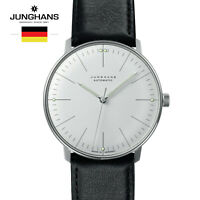 Junghans Max Bill Automatic 027/3501.00 Black Leather Strap Watch for Man &Woman