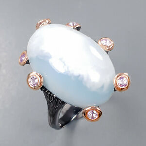 Vintage Larimar Ring Silver 925 Sterling  Size 7.5 /R158817