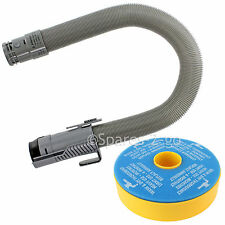 Double Stretch Vacuum Cleaner HOSE & Washable Filter Fits DYSON DC07 Grey Silver