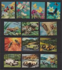 BHUTAN, 23 DIFFERENT 3-D-STAMPS, ALL MINT NEVER HINGED