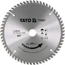 Hm Lame de Scie Circulaire 180 X 20, 60 Dents Tr-F Pos. pour Aluminium, à Métal