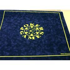 Morize Chavet Tapis de poker bleu en suédine 75 x 75 cm M0553