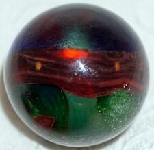 Contemporary Artist Made Marble Open Window & Oxblood & Green Aventurine