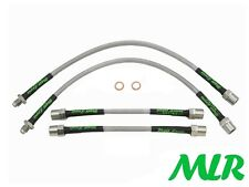 VW POLO MK1 MK2 MK3 COUPE G40 GT S/STEEL BRAIDED BRAKE LINES HOSES PIPES KIT VC
