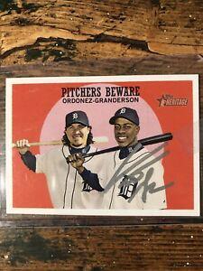 Curtis Granderson Autographed Baseball Card Detroit Tigers