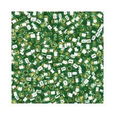 Delica Beads Miyuki 11/0 Seed Beads DB2165 Duracoat Silver Line Dk Seafoam Green