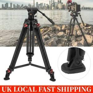 "Professional Heavy Duty 34""inch DV Video Camera Tripod Stand Fluid Pan Head Kit"