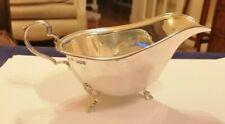 1963 Charles Fletcher Sheff' sterling silver Georgian revival gravy boat - 95 gm
