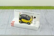 Busch 48918 Yellow Smart City Coupe w/ Snowman Figure and Skis 1:87 Scale HO