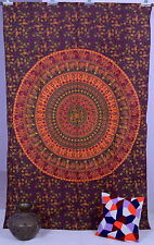 Indian Maroon Mandala Hippie Bohemian Twin Wall Hanging Tapestry Throw Bedspread