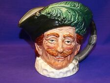 ROYAL DOULTON LARGE THE CAVALIER CHARACTER TOBY JUG PITCHER ENGLAND D6114