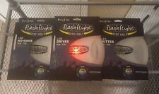 New Nite Ize Flashflight LED Disc Golf Set Disc-O Select Driver/Mid-Range/Putter