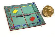 3008# Miniatur Monopoly Spielbrett - für Puppenhaus - Puppenstube - M 1zu12