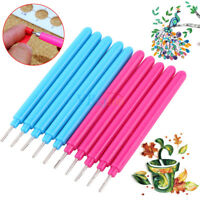 10Pcs Economic Papercarft Plastic Slotted Paper Quilling Tools DIY Curling Pen