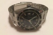 "Lucerne ""Marine Luxus Diver "" Men's Wristwatch 200 Ft./60m Black Dial Swiss Made"