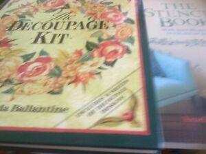 Decoupage kit book /stencil book x3 over 30 stencils/ nursery designs paperback
