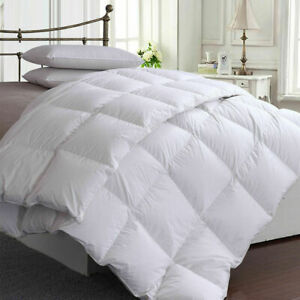 LUXURY DUCK FEATHER DOWN DUVET 10.5 TOG QUILT BEDDING QUILTS PILLOWS XMAS GIFT