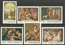 Briefmarken aus Rumänien mit Kunst-Motiv