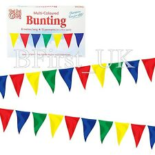 20 Feet Long Material Polyester Pennant Flag Banner Multi Coloured Bunting Party