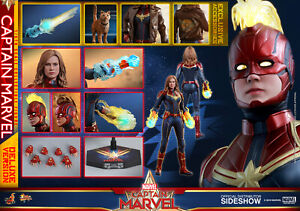 Hot Toys Marvel Captain Marvel Movie Deluxe Captain Marvel Sixth Scale Figure