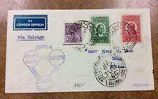 {BJ Stamps} 1933 Brazil  Zeppelin Condor cover to Switzerland  239B