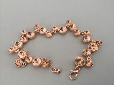 Bracelet Brigitte Bijoux  plaqué cuivré strass couleur champagne neuf