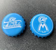 2 x Meinel Bräu Hof Bier Kronkorken beer bottle cap tappo birra chapa