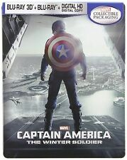 Captain America: The Winter Soldier 3D SteelBook [BR3D + Blu-ray + Digital] NEW