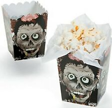 Confezione di 12-Mini Testa Zombie Scatole Popcorn-Halloween Festa OMAGGI