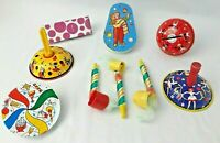 Tin Toy Litho Noise Maker Kirchhof US Metal Toy Mfg Co USA Serpentine Horn Lot