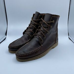 Quoddy Brown Leather Chukka Ankle Boots Shoes Lace Up Men's 9 Vibram Soles