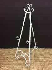 Medium French Ornate Metal Easel Wedding Conference Artwork Stand White 117cm