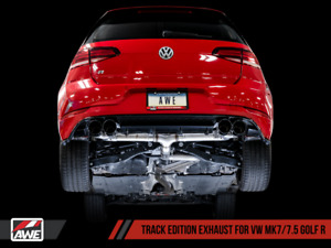 AWE Track Edition Exhaust for MK7 Golf R - Chrome Silver Tips, 102mm