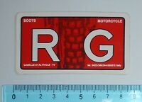 ADESIVO VINTAGE STICKER AUTOCOLLANT RG MOTORCYCLE BOOTS ANNI '80 8x4 cm