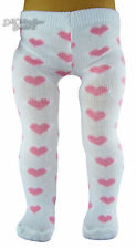 """Pink Hearts Tights for 18"""" American Girl Doll Clothes Accessories"""