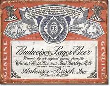 Budweiser Bier USA Vintage Style Logo Metall Schild Bar Werbung Deko Plakat