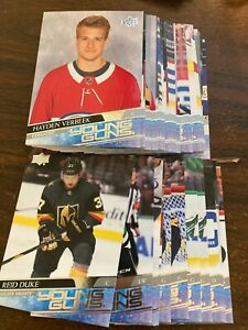2020-2021 UD YOUNG GUNS SERIES 1, 2 + EXTENDED YOU PICK - FINISH SETS CAN