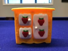 Vintage 1980's Strawberry Shortcake Berry Happy Home FURNITURE KITCHEN Cabinet