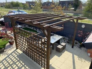 Custom Made Timber Pergola. NOT £50. PLEASE READ THE LISTING IN FULL.