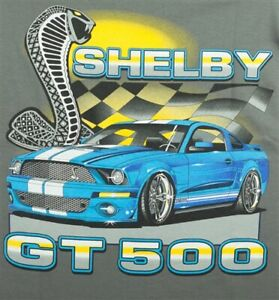 Shelby Flags T-Shirt - GT500 Mustang Shirt - Great 2-Sided Design FREE SHIPPING!