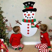 DIY Felt Christmas Snowman Game Set Detachable Ornament Xmas Wall Hanging Decor