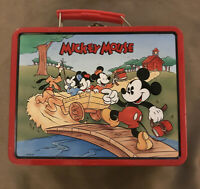 Disney Mickey Mouse and Friends 1996 Lunch Box Tin Picnic School House EMPTY