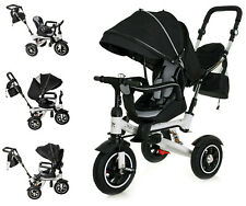 Kinderdreirad Kinder Lenkstange A208 Kind Fahrrad Baby Kinderwagen Trike Jogger