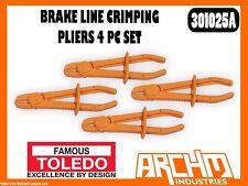TOLEDO 301025A - BRAKE LINE CRIMPING PLIERS - 4 PC SET - RESTRICT FLOW FLUID